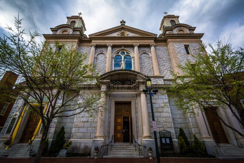 La parroquia de catedral de St Patrick, en Harrisburg céntrica, P fotografía de archivo libre de regalías