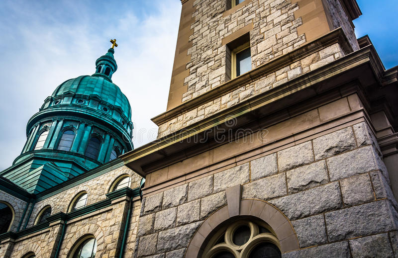 La parroquia de catedral de St Patrick en Harrisburg, Pennsylvani imagen de archivo