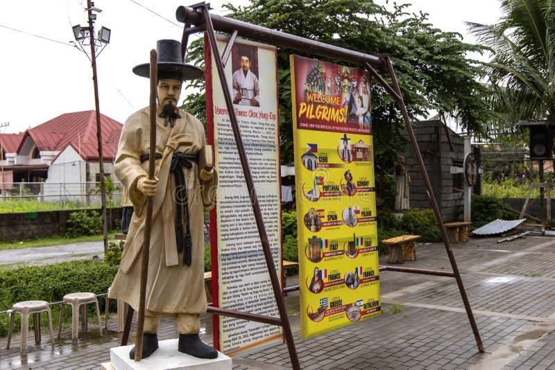 La parroquia de Sto Iglesia del Tae-gobierno de Nigeria de Cristo y del St Andrew Kim nueva, Bulacan, Filipinas, el 29 de junio d imágenes de archivo libres de regalías