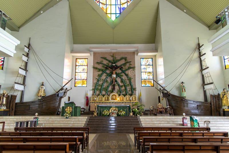 La parroquia de Sto Iglesia del Tae-gobierno de Nigeria de Cristo y del St Andrew Kim nueva, Bulacan, Filipinas, el 29 de junio d imagen de archivo