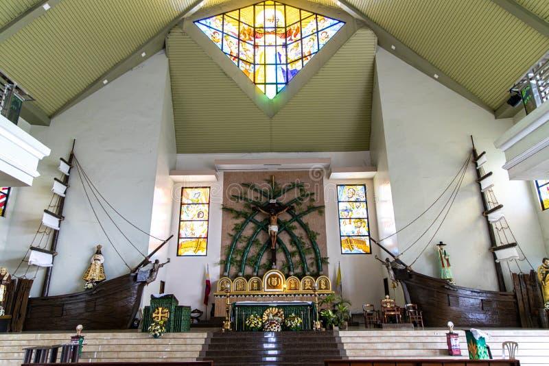 La parroquia de Sto Iglesia del Tae-gobierno de Nigeria de Cristo y del St Andrew Kim nueva, Bulacan, Filipinas, el 29 de junio d foto de archivo libre de regalías