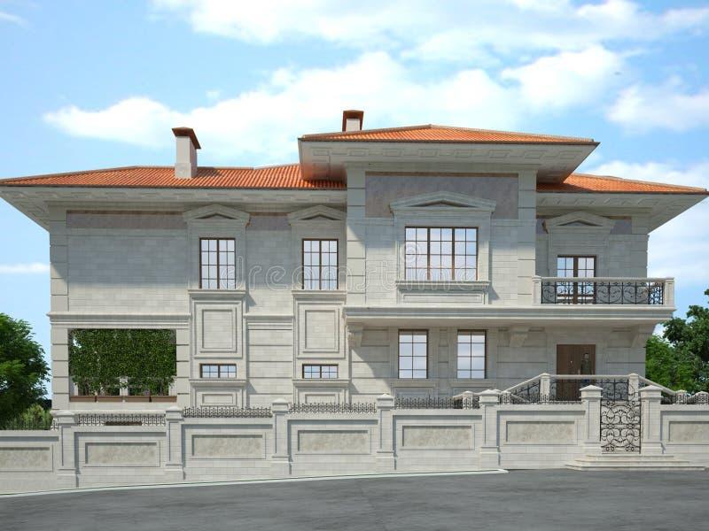 La parte anteriore della casa illustrazione di stock for Design della casa libera