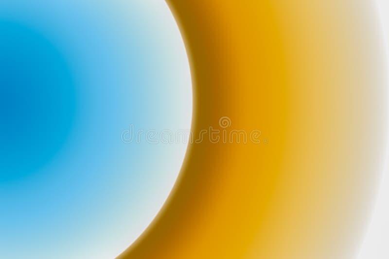 La parte del círculo es una pendiente multicolora Marrón amarillo azul stock de ilustración