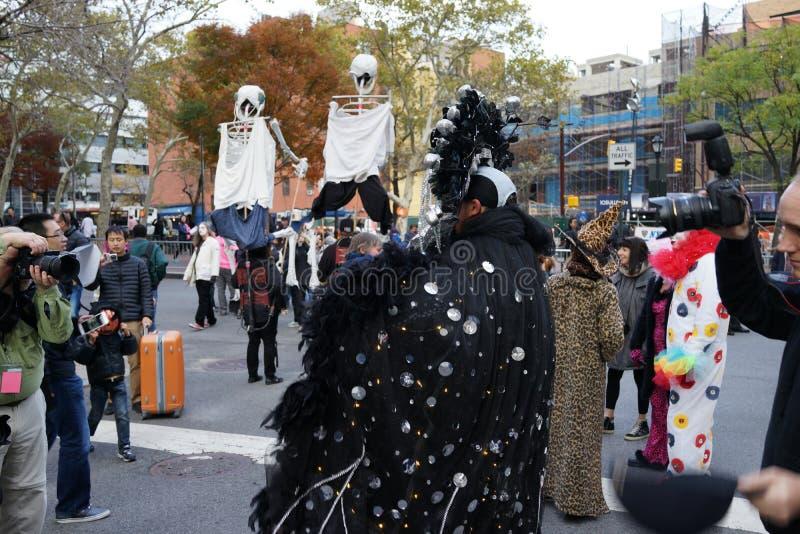 La parte 2 2015 di parata di Halloween del villaggio 6 fotografia stock libera da diritti