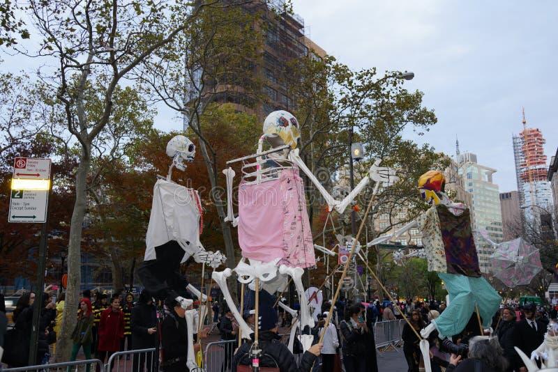 La parte 2 2015 di parata di Halloween del villaggio 23 fotografia stock libera da diritti