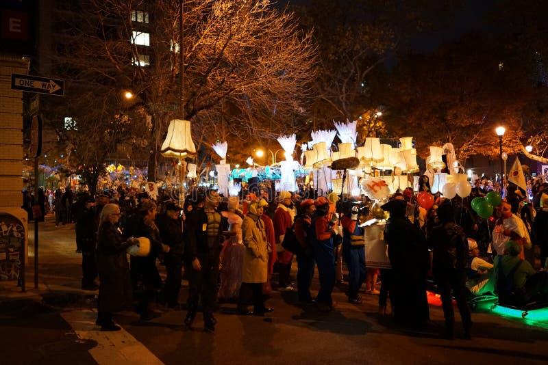 La parte 2 2015 di parata di Halloween del villaggio 32 immagine stock libera da diritti