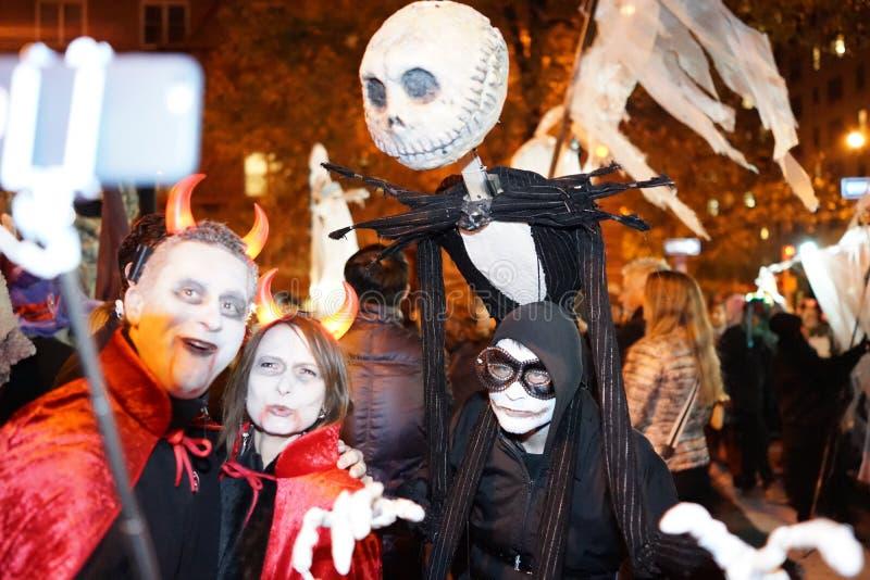 La parte 2 2015 di parata di Halloween del villaggio 73 fotografie stock