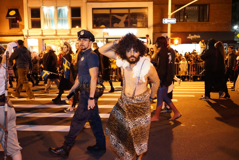 La parte 2015 di parata di Halloween del villaggio 4 4 immagine stock