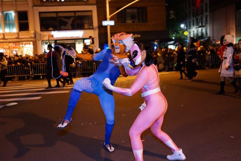 La parte 2015 di parata di Halloween del villaggio 4 75 immagini stock libere da diritti