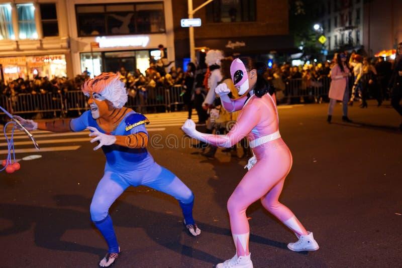 La parte 2015 di parata di Halloween del villaggio 4 78 fotografie stock libere da diritti
