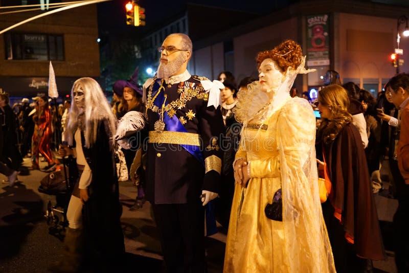La parte 2015 di parata di Halloween del villaggio 4 79 fotografie stock libere da diritti