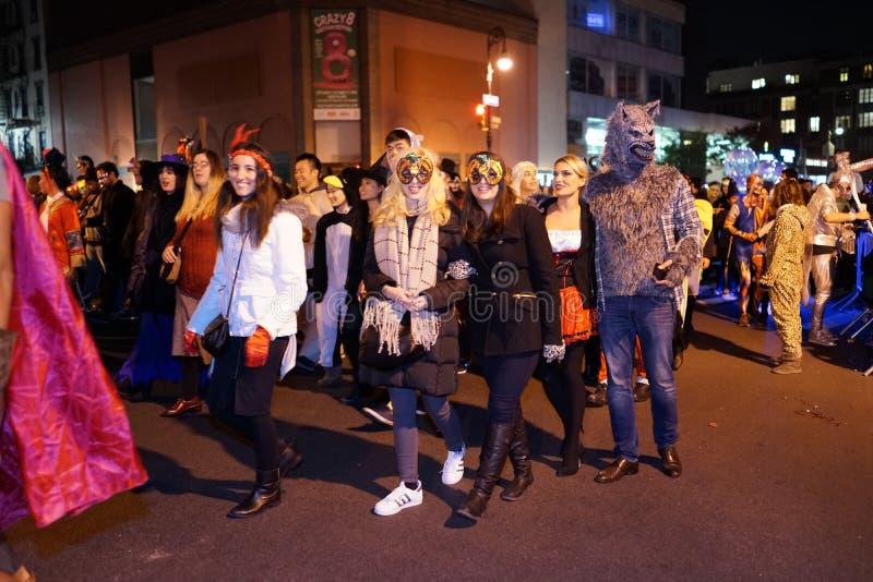 La parte 2015 di parata di Halloween del villaggio 4 90 immagini stock libere da diritti