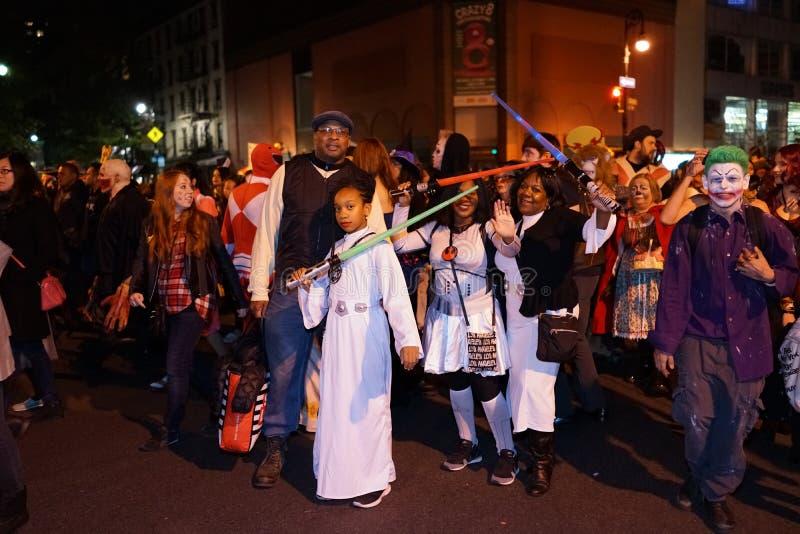 La parte 2015 di parata di Halloween del villaggio 4 93 fotografia stock