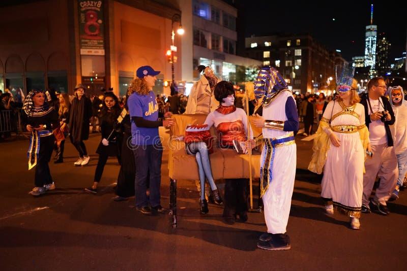 La parte 2015 di parata di Halloween del villaggio 4 97 immagine stock libera da diritti