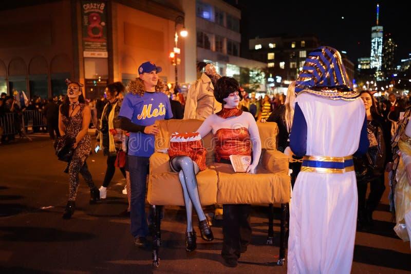 La parte 2015 di parata di Halloween del villaggio 5 1 fotografia stock libera da diritti