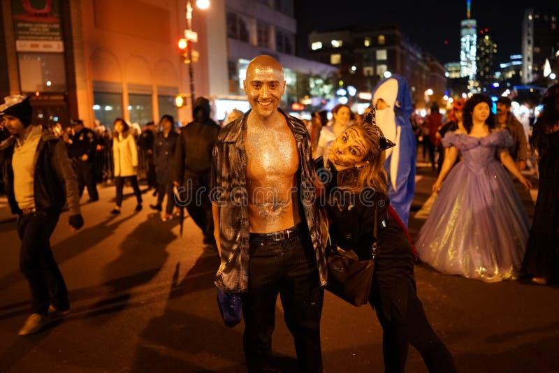 La parte 2015 di parata di Halloween del villaggio 5 5 fotografia stock