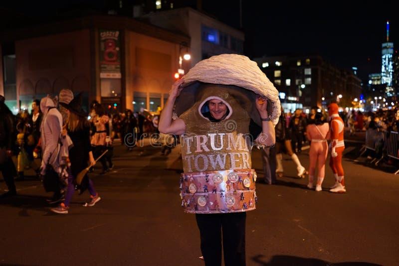 La parte 2015 di parata di Halloween del villaggio 5 14 fotografia stock libera da diritti