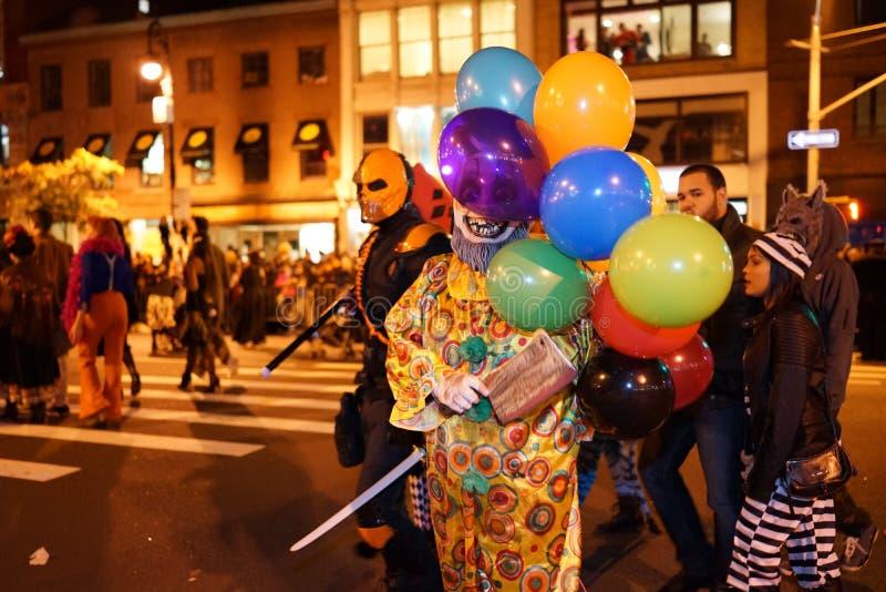La parte 2015 di parata di Halloween del villaggio 5 20 fotografie stock libere da diritti