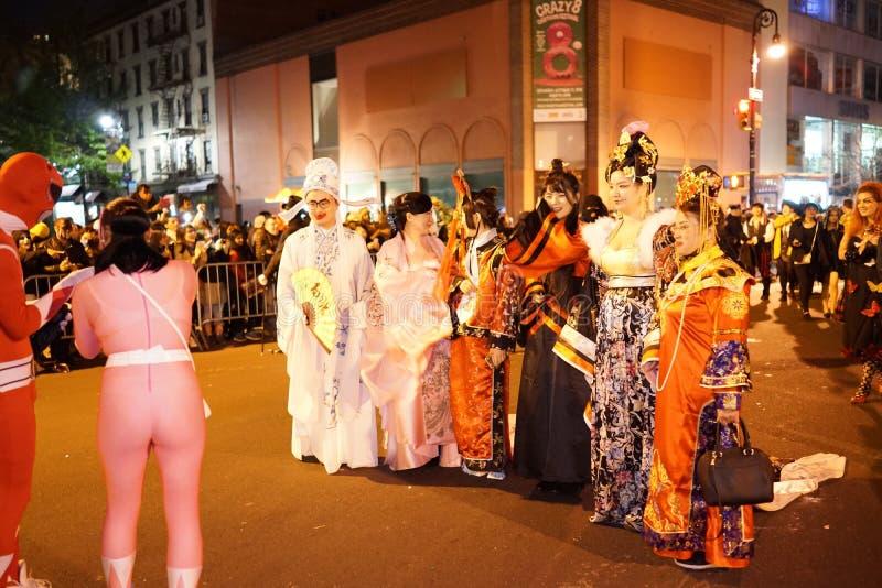 La parte 2015 di parata di Halloween del villaggio 5 22 fotografia stock
