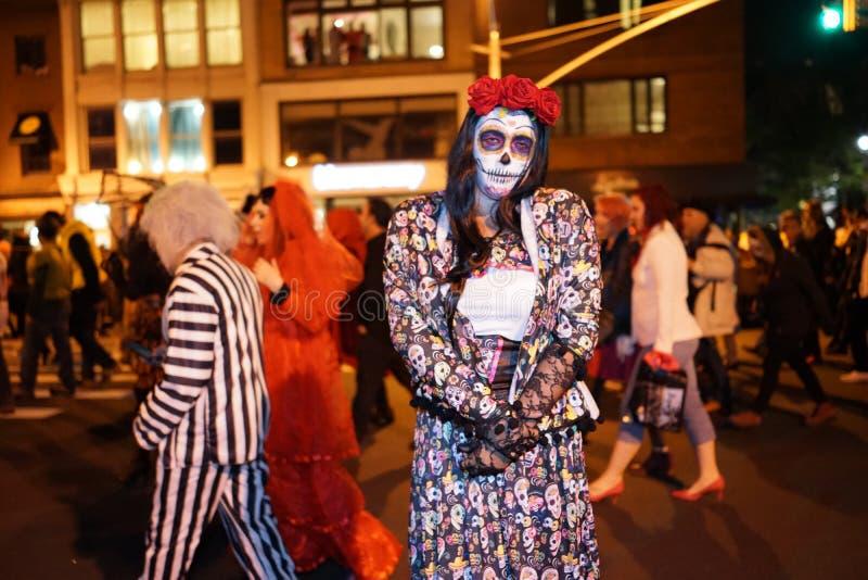 La parte 2015 di parata di Halloween del villaggio 5 43 fotografia stock