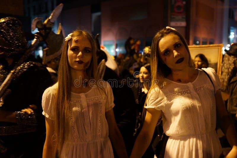 La parte 2015 di parata di Halloween del villaggio 5 58 fotografia stock