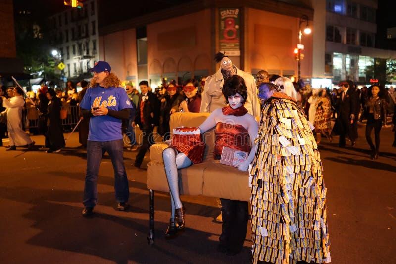 La parte 2015 di parata di Halloween del villaggio 5 62 fotografia stock libera da diritti