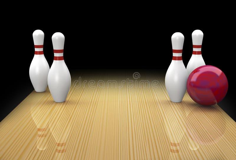 La parte di recambio di bowling dei dieci perni ha chiamato Big Ears illustrazione di stock