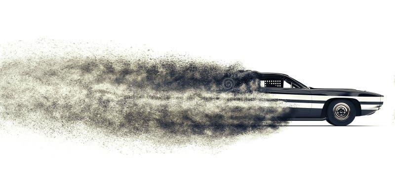 La particella automobilistica della corsa dura d'annata trascina FX illustrazione di stock