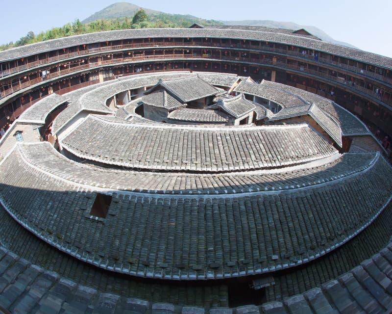 La partie centrale de construction de la terre de Hakka image libre de droits
