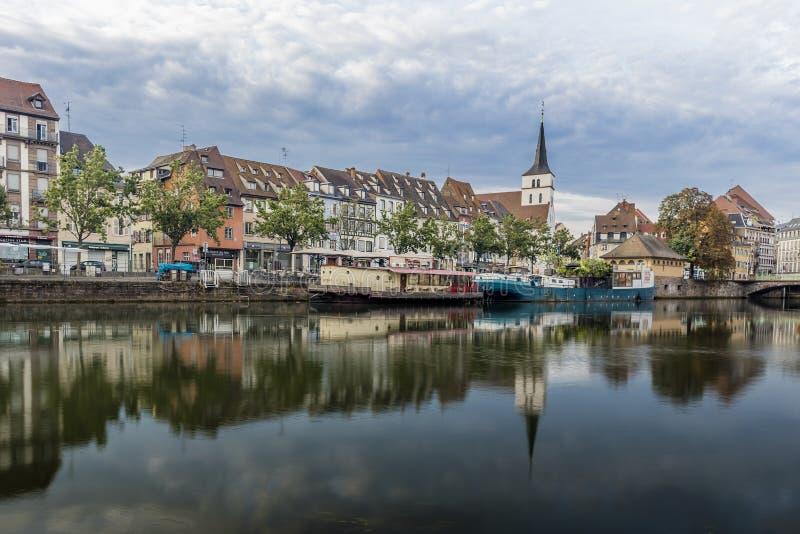 La partie centrale de Strasbourg images libres de droits
