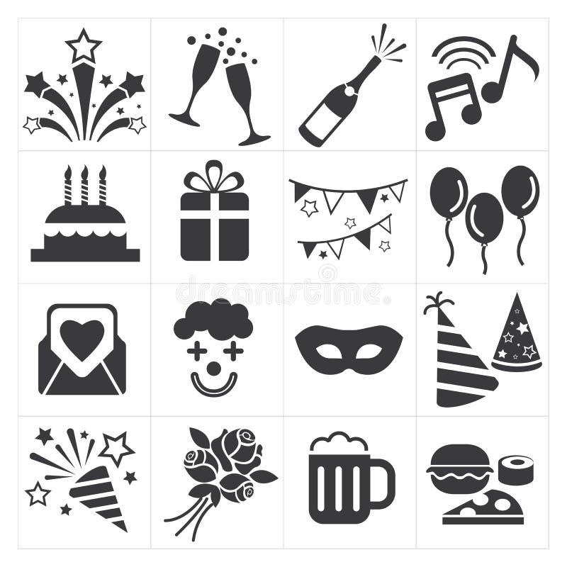 La partie d'icône célèbrent illustration de vecteur