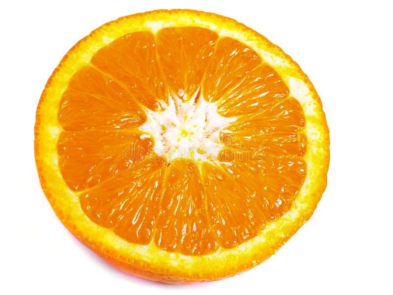 La partie de l'orange photo stock