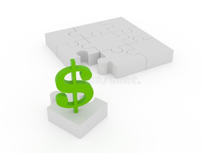 La partie manquante dans les finances illustration stock