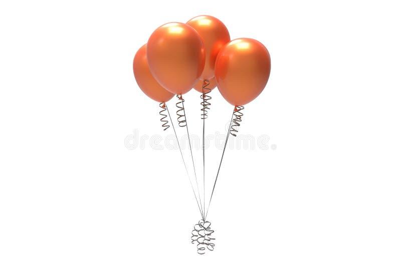 La partie monte en ballon (l'orange) photos libres de droits