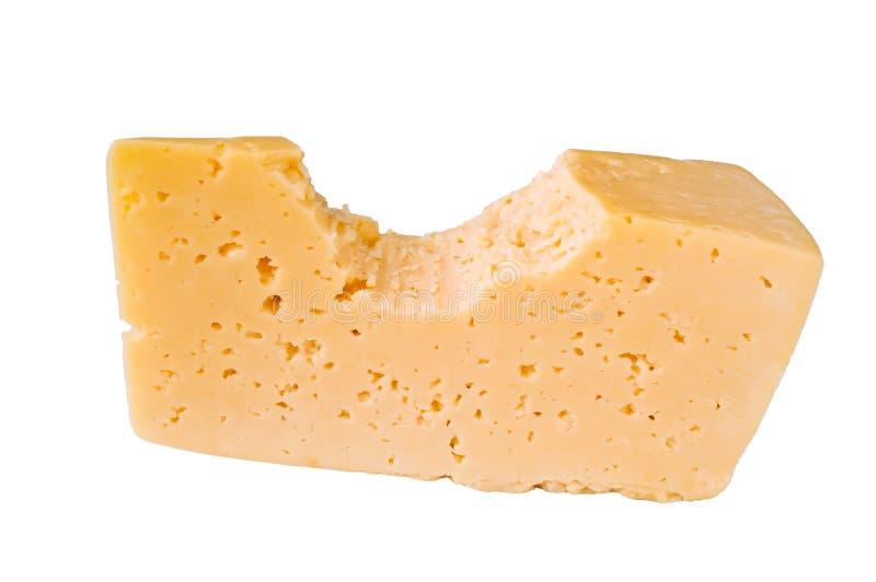 La partie mordue de fromage photo libre de droits