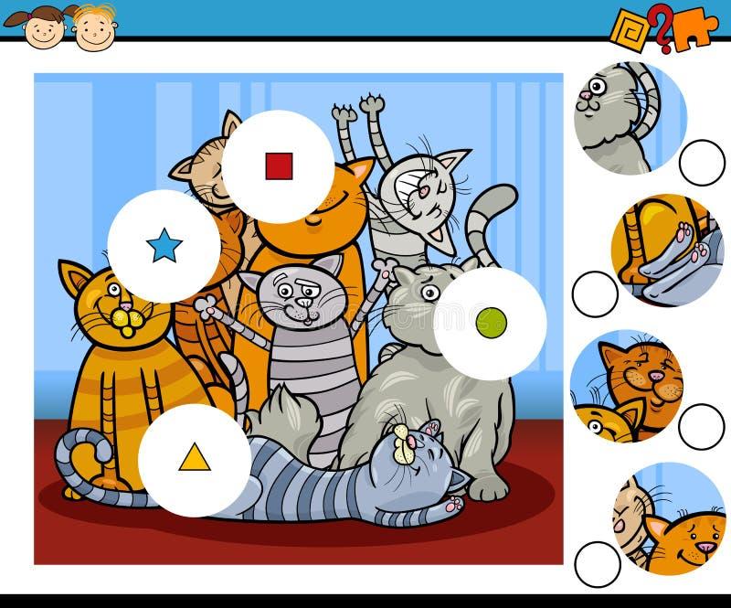 La partita collega il gioco di istruzione royalty illustrazione gratis