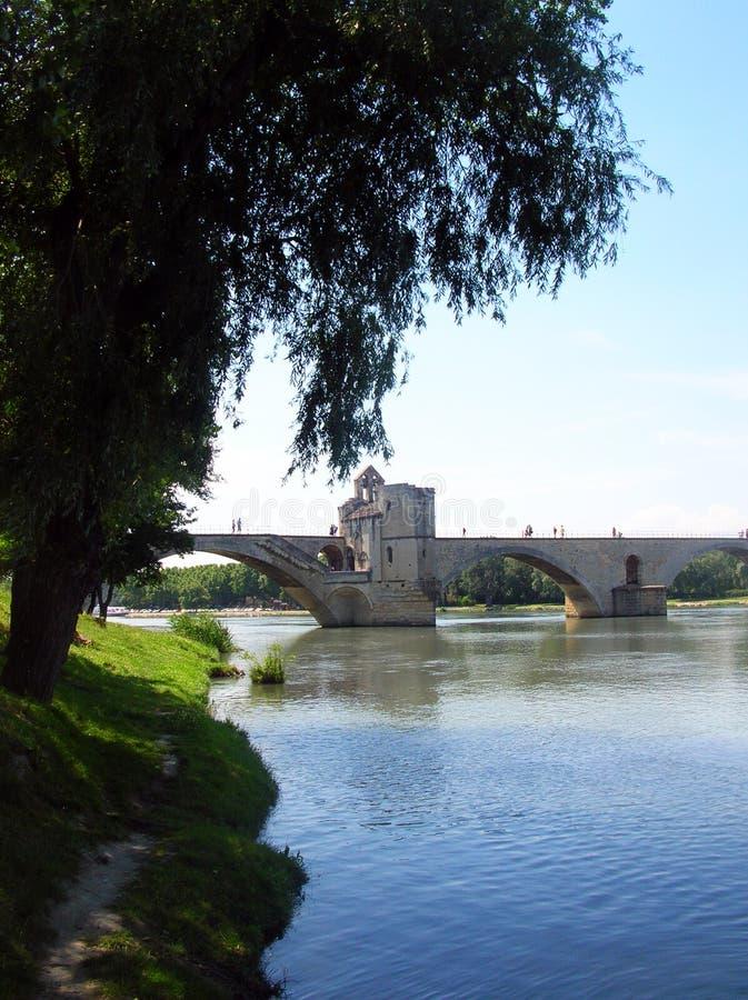 La passerelle d'Avignon image libre de droits