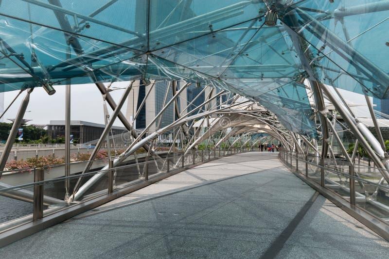 La passerelle d'helice à Singapour photos stock