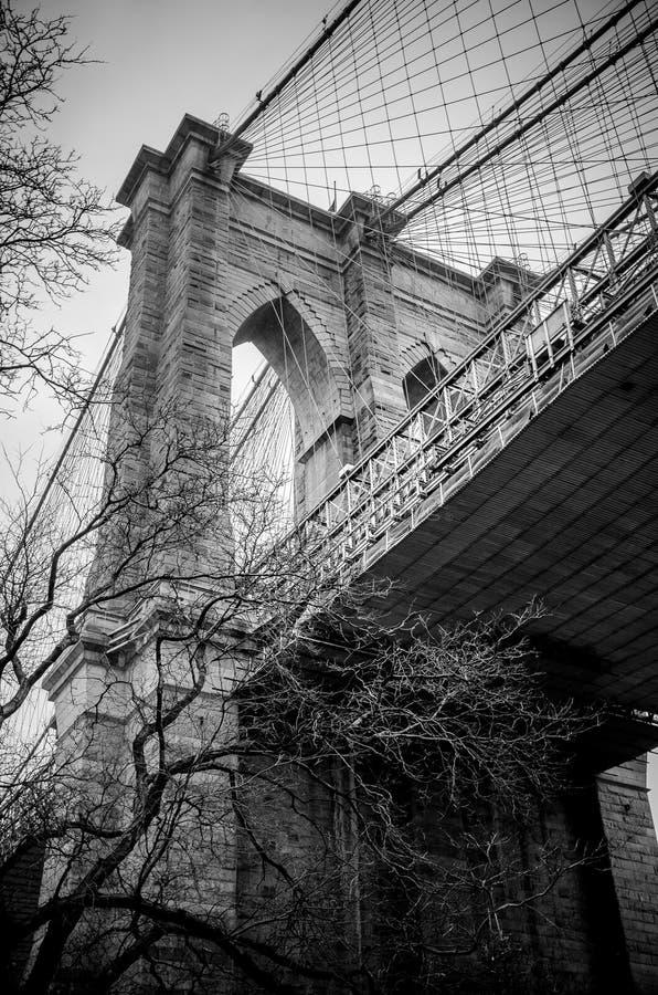 La passerelle de Brooklyn photo libre de droits