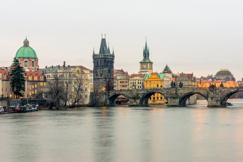 La passerelle de Charles à Prague photos libres de droits