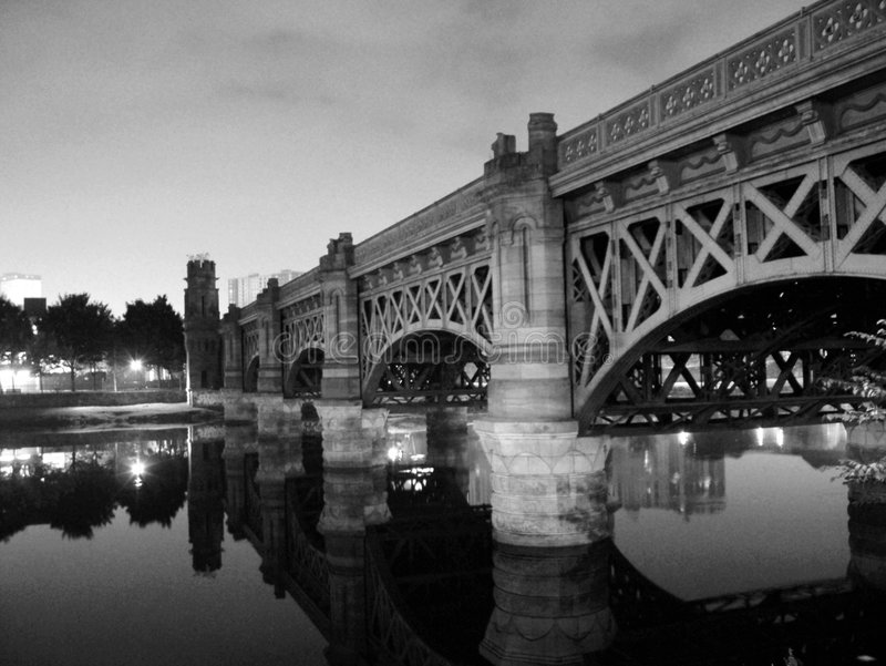 La passerelle de Glasgow - de Victoria photo libre de droits