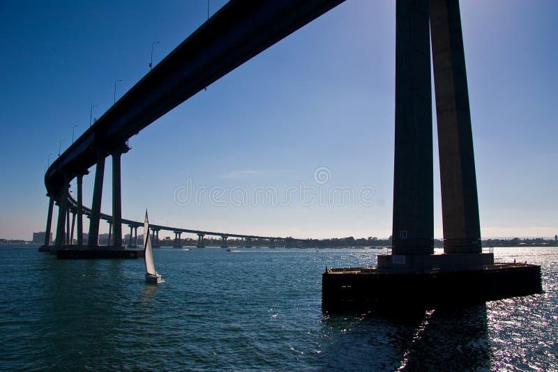 La passerelle de San Diego-Coronado image stock