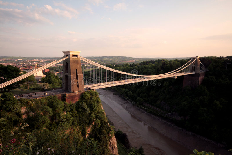 La passerelle de suspension de Clifton Bristol photographie stock libre de droits