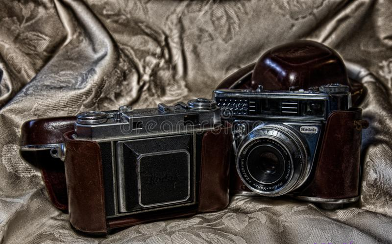 La passion des appareils-photo de vintage photos stock
