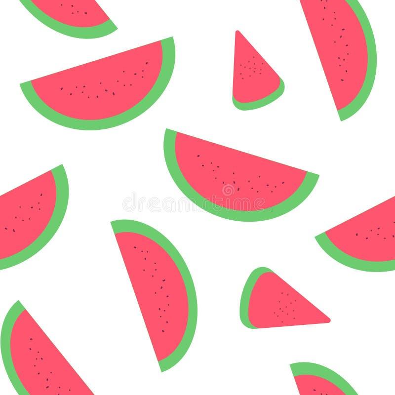 La pastèque découpe l'illustration en tranches image libre de droits