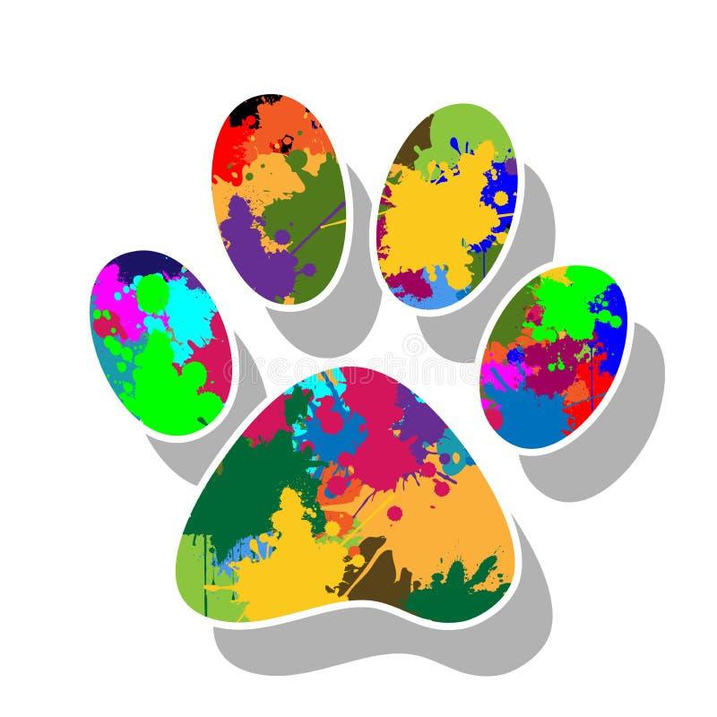 La pata imprime colorido ilustración del vector