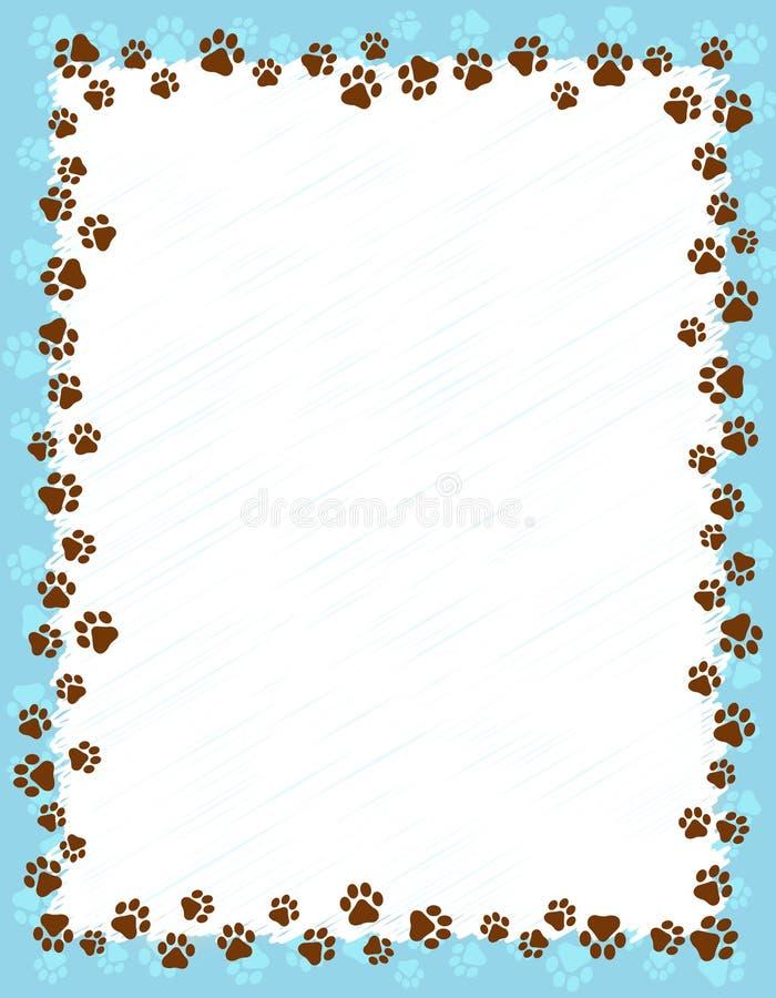 La pata imprime la frontera ilustración del vector