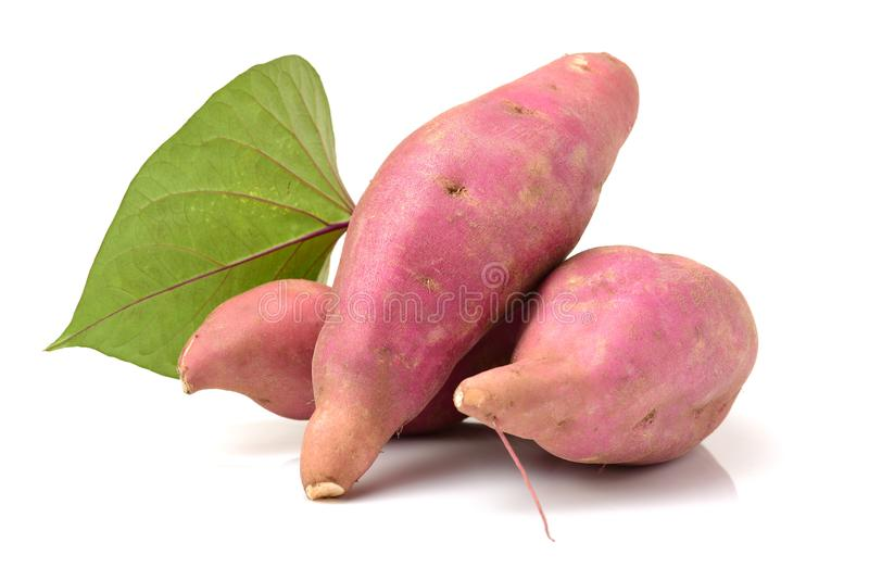 La patata dolce ipomoea batatas o batat immagini stock