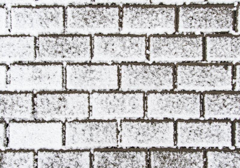 La pavimentazione della neve immagini stock