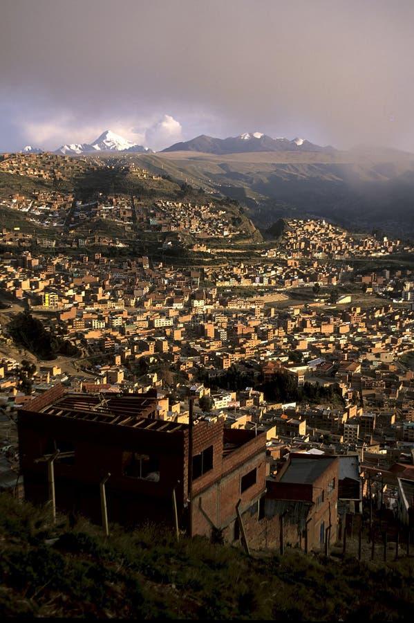 La Paz- Bolívia fotografia de stock royalty free